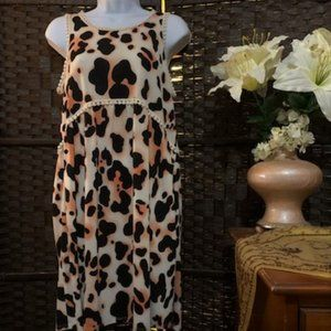 Auditions Size M Leopard Dress NWT